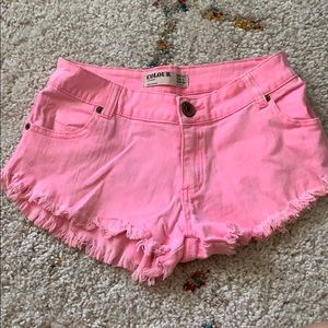 Cotton On Shorts - Neon pink summer shorts